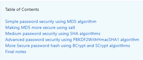 Java Secure Hashing Md5 Sha256 Sha512 Pbkdf2 Bcrypt