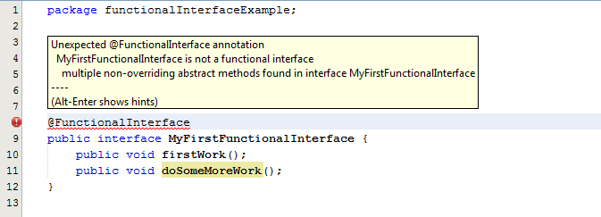 Functional-Interface-Error