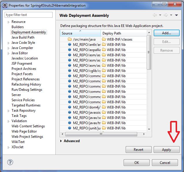 Apply deployment assembly
