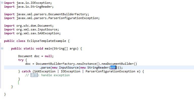 Code inserted in place of shortcut