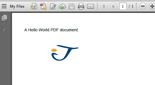 Hello! Pdf table of contents by clicking?