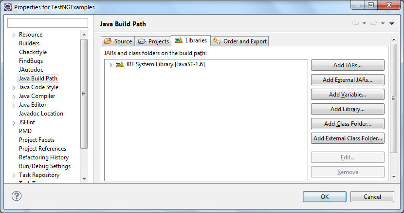 Select Java Build Path