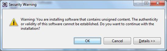 TestNG warning window