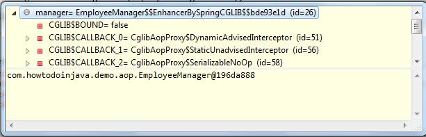 spring-aop-proxy-object