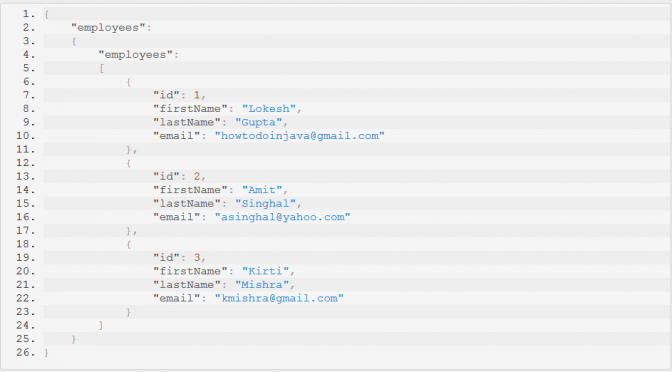 Spring REST JSON Example