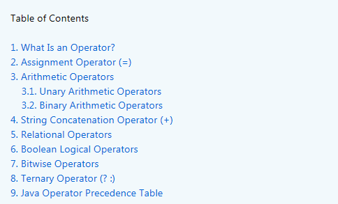 A Guide To Java Operators Howtodoinjava