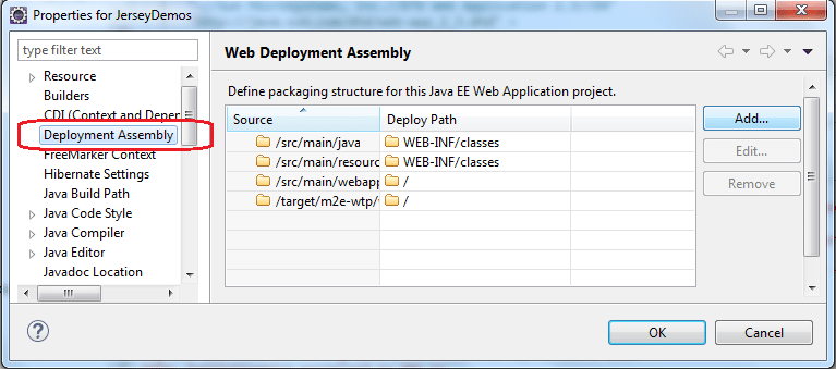 Eclipse Deployment Assembly