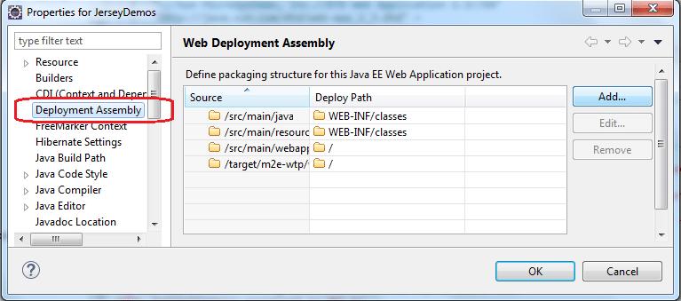 Eclipse Deployment Assembly