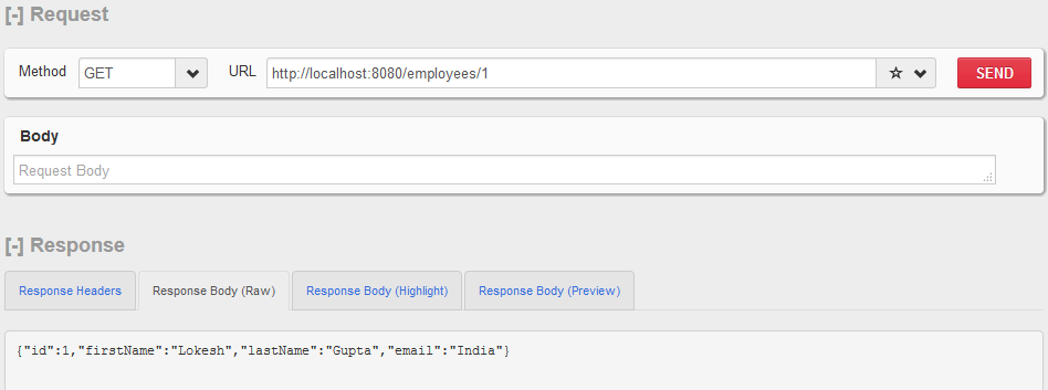 Dropwizard - GET Request Example - 2