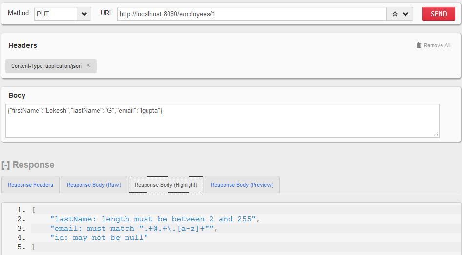 Dropwizard - Validation Example