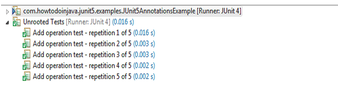 JUnit 5 Repeated Test Display Names