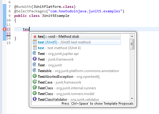 JUnit 5 Test Templates for Eclipse - HowToDoInJava
