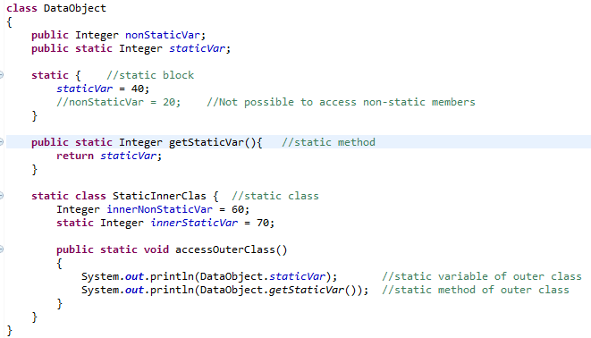 Java Static - Variable, Method, Block, Class and Import