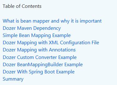 Dozer bean mapping example - HowToDoInJava