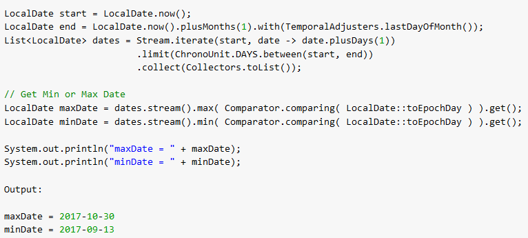 Java 8 Stream - Find Max and Min from List - HowToDoInJava