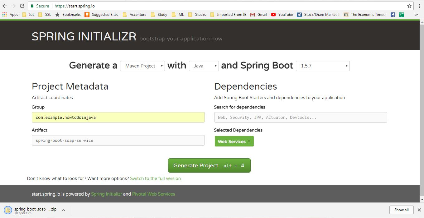 Spring boot soap webservice example howtodoinjava generate spring boot project baditri Choice Image