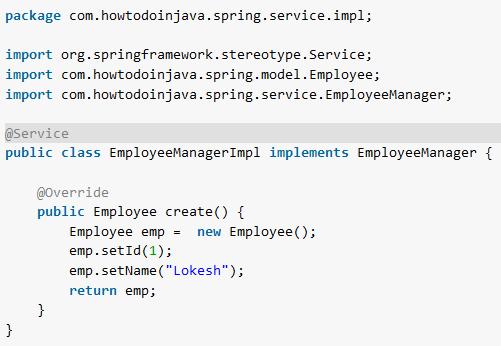 Spring Bean Java Configuration Example - HowToDoInJava