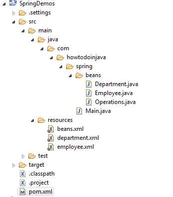 Spring XML Config Project Structure