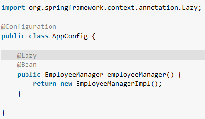 Spring - Eager vs lazy loading configurations example