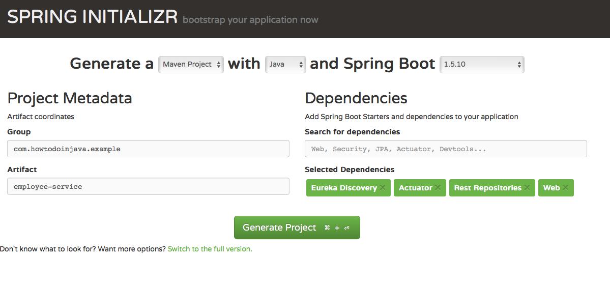 Microservice monitoring - Hystrix, Eureka and Spring boot ...