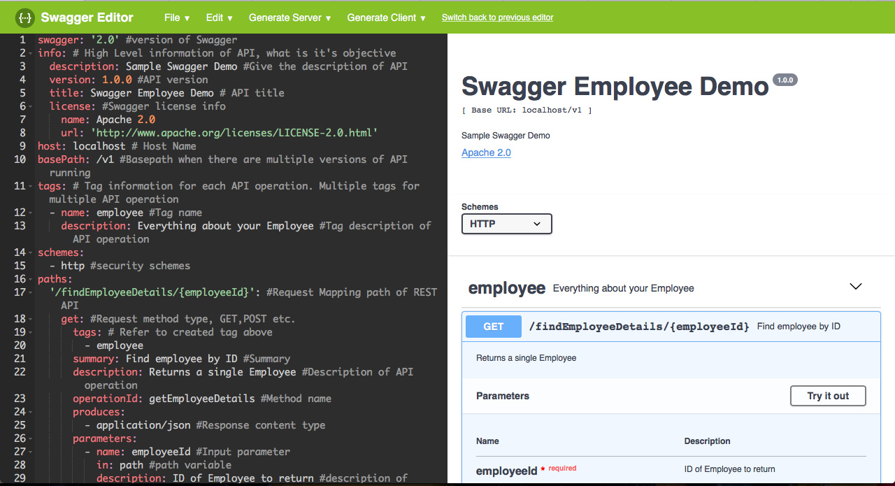 Swagger codegen tutorial example - HowToDoInJava