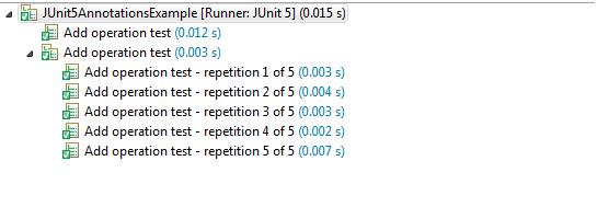 JUnit 5 Repeated Test Display Names