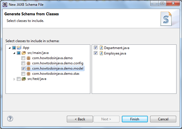 Generate XSD from JAXB Java Classes using Eclipse - HowToDoInJava