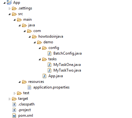 Spring Batch Java Config Example