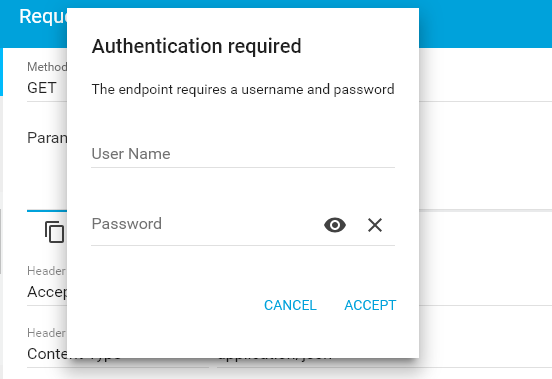 Require username and password