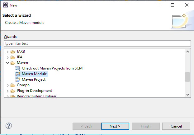 Create new maven module