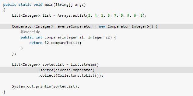 Java Stream sorted() method example - HowToDoInJava