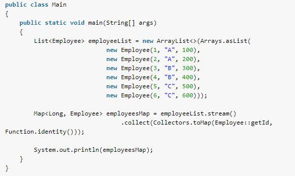 Java 8 - Convert stream to Map - HowToDoInJava