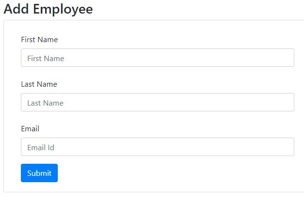 Add employee screen