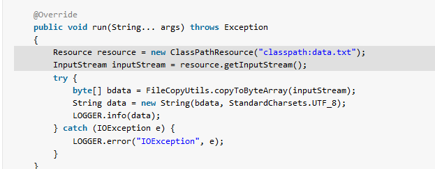 Spring boot read file from resources folder - HowToDoInJava