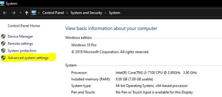 Windows + Pause