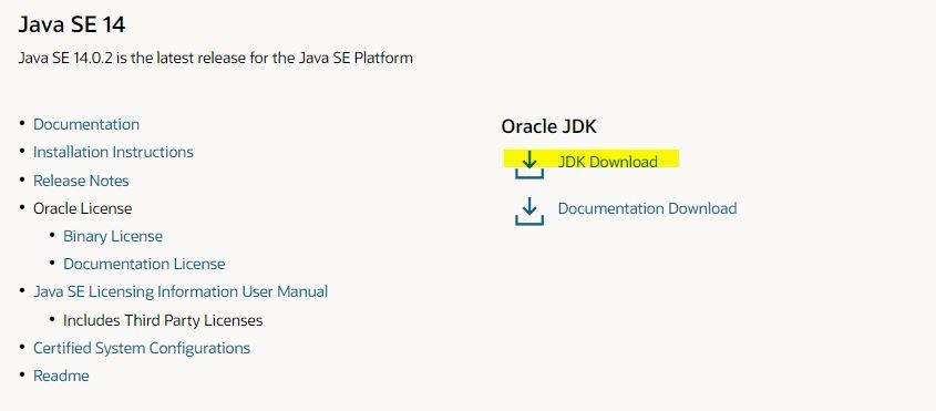 JDK Download Link