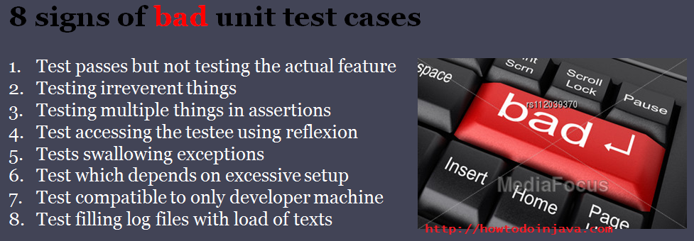 bad unit test cases