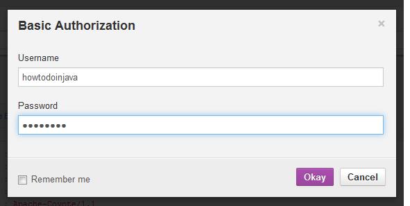 Add basic authorization credentials